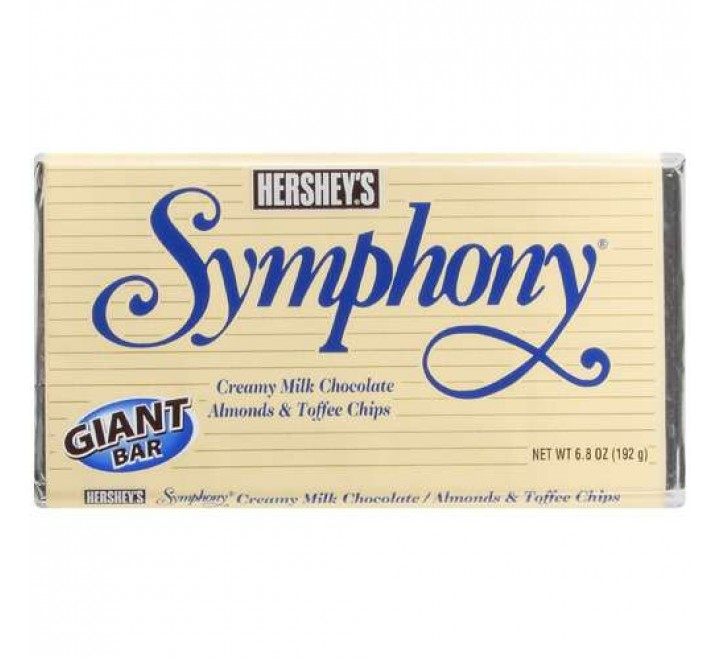 Hershey's Symphony Creamy Milk Chocolate Almonds & Toffee Chips (192g)