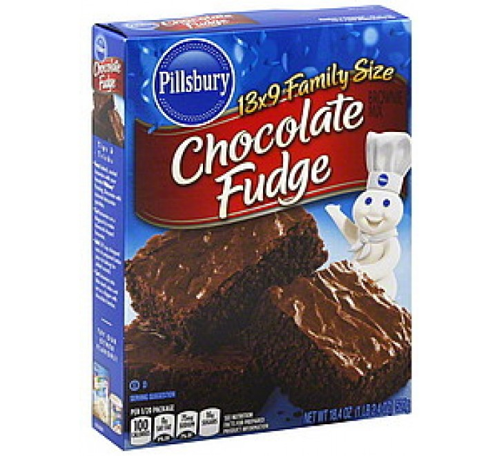 Pillsbury Chocolate Fudge Brownie Mix Family Size (521g)