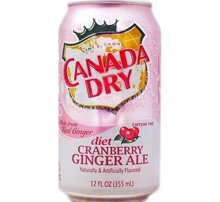 Canada Dry Diet, Cranberry Ginger Ale (355ml)