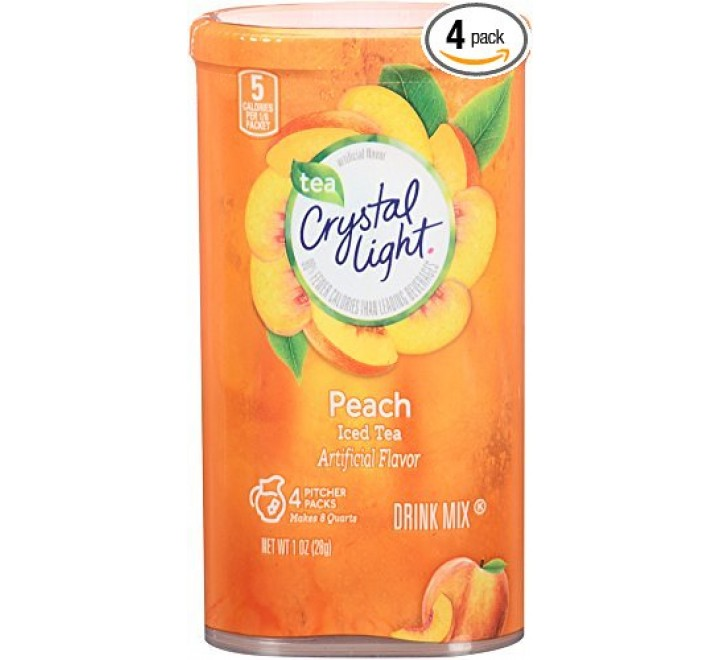 Crystal Light Peach Iced Tea Drink Mix (28g)
