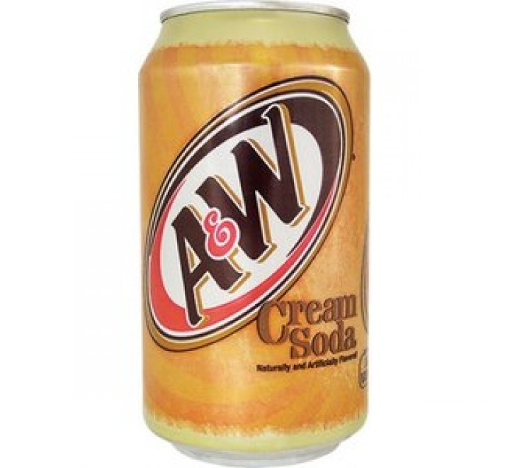 A & W Cream Soda With Caffeine (355ml)