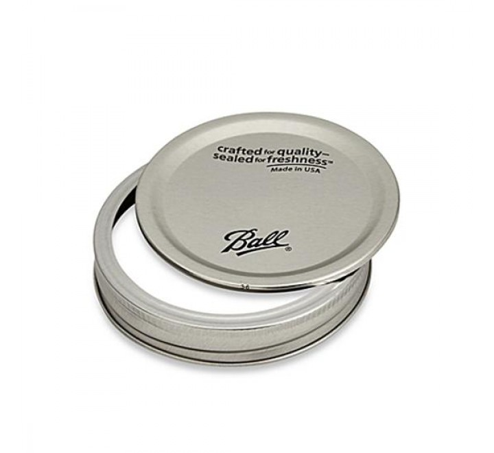 Ball Mason Single Lid With Band, Regular Mouth 16oz