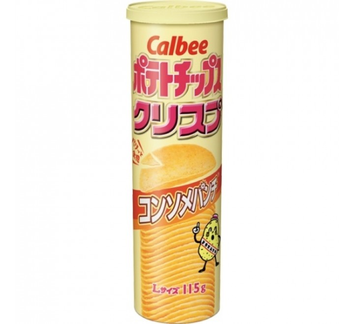Calbee Potato Chips, Consomme Punch (115g)