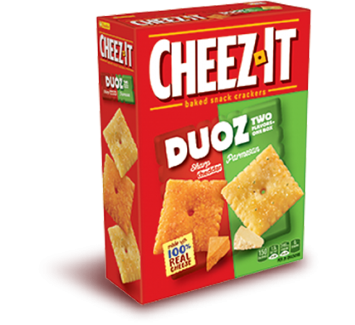 Cheez-It Duoz Sharp Cheddar & Parmezan Baked Snack Crackers (351g)