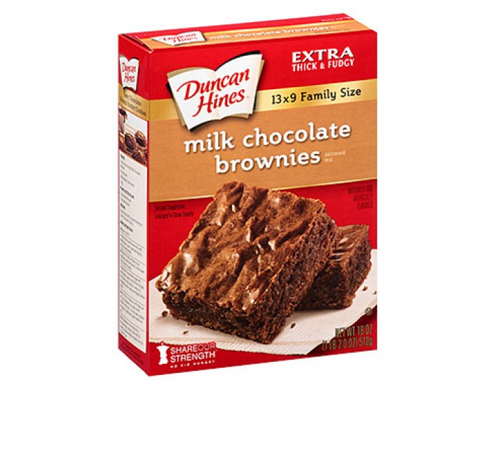 Duncan Hines Milk Chocolate Brownies (510g)
