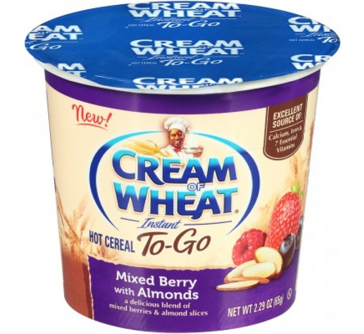 Cream Of Wheat Instant Hot Cereal To-Go Cup, Mixed Berry With Almonds (65g)