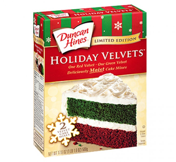 Duncan Hines Holiday Velvet Cake Mix Limited Edition (500g) USfoodz