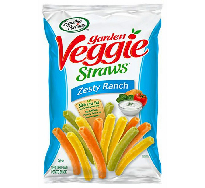 Sensible Portions Garden Veggie Straws, Zesty Ranch (28g)