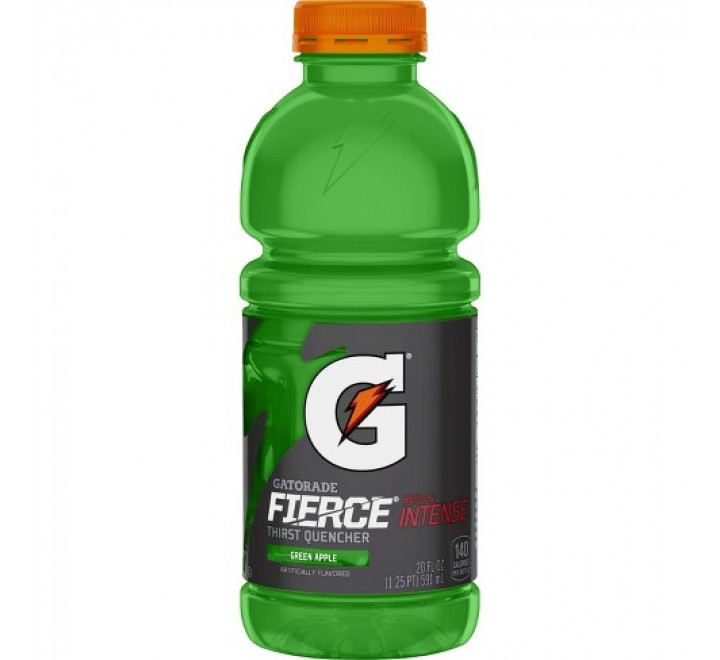 Gatorade Fierce Thirst Quencher, Green Apple (591ml)