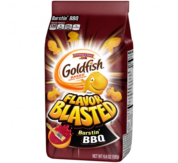 GoldFish Burstin' BBQ Snack Crackers (187g)