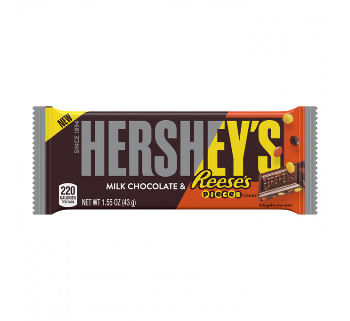 Hershey's Milk Chocolate & Reese's Pieces Bar (43g)