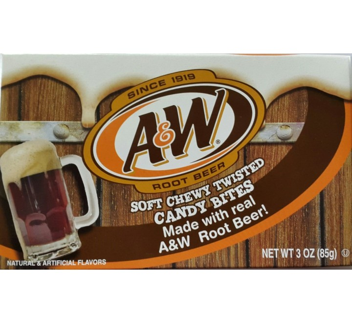 A&W Soft Chewy Twisted Candy Bites Box