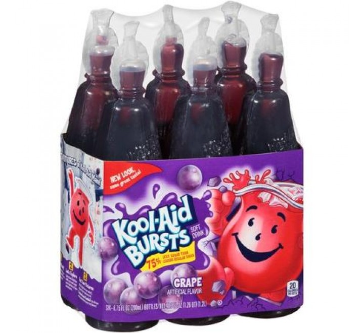 Kool-Aid Bursts Grape Soft Drink, 6-Pack (1.2L)