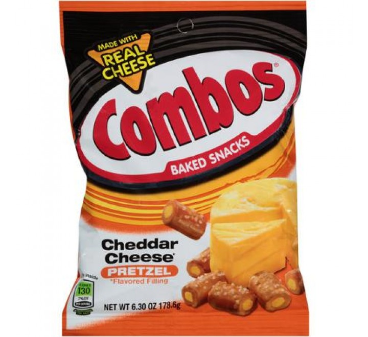 Combos Stuffed Snacks, Cheddar Cheese Baked Pretzel (178g)