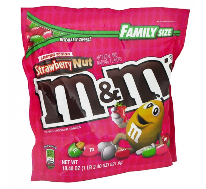 M&M'S Strawberry Nut Family Size Limited Edition (521g) USfoodz