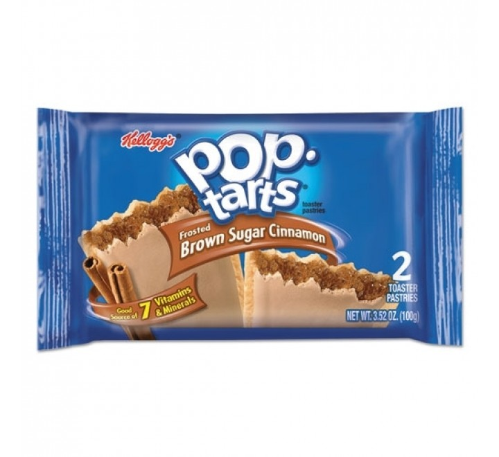 Kellogg's PopTarts Frosted Brown Sugar Cinnamon (2-Pack) (100g)