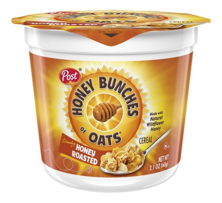 Post Honey Bunches Of Oats, Honey Roasted Cereal Cup (60g)