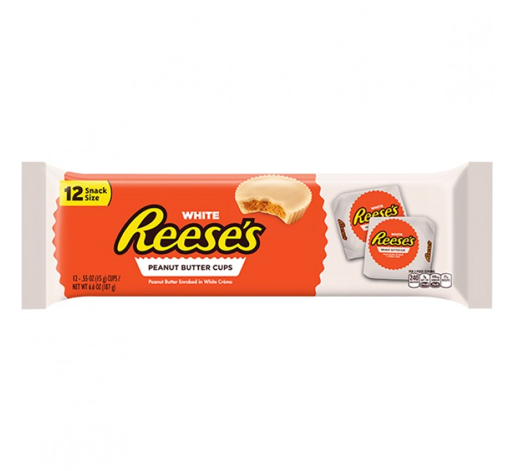 Reese's White, 12 Peanut Butter Cups (187g)