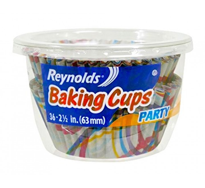 Reynolds Baking Cups Party 2-1/2 Inch 36 Packs circles