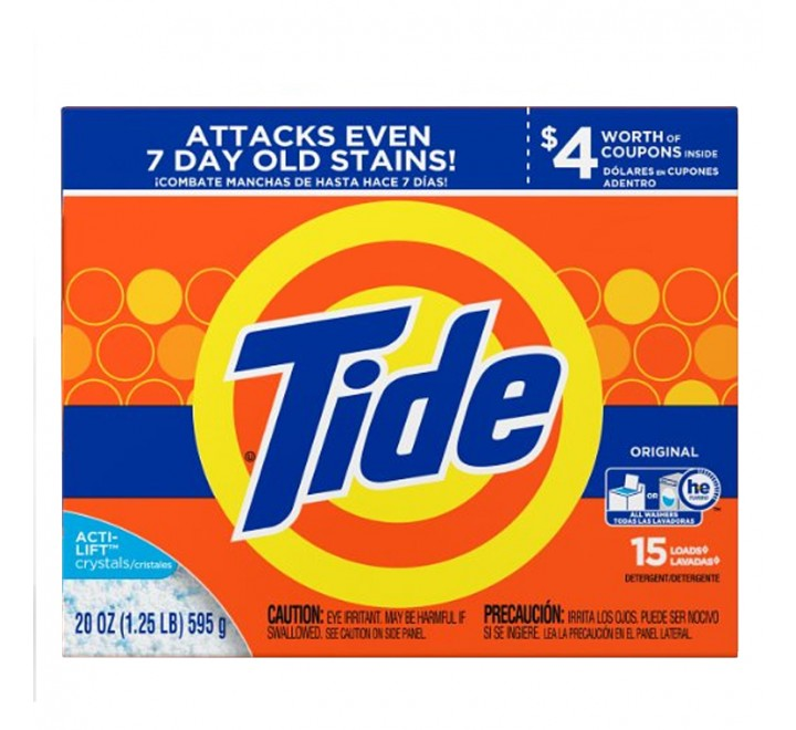 Tide Original Powder Laundry Detergent, 15 loads (595g)