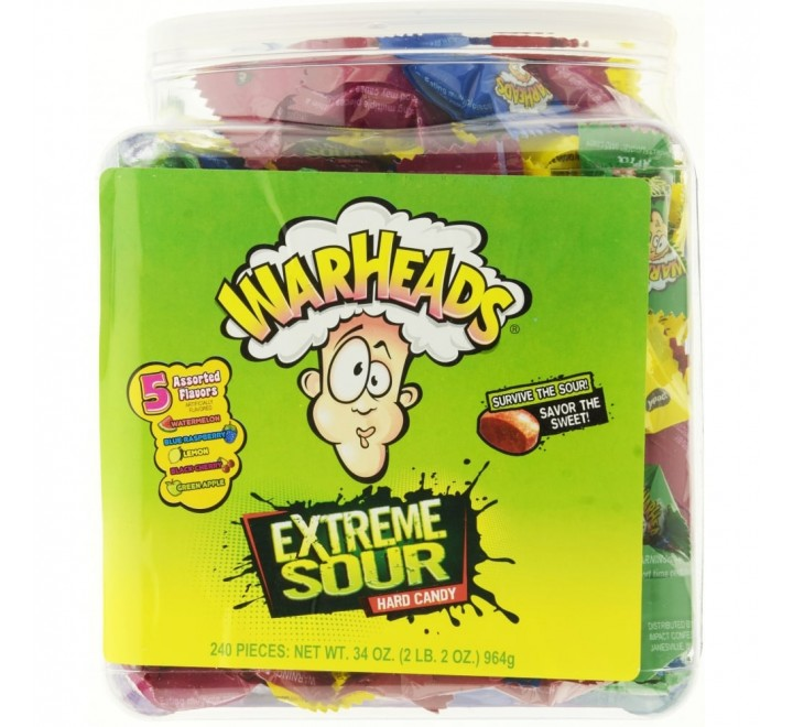 Box Warheads Extreme Sour Hard Candy (964g)