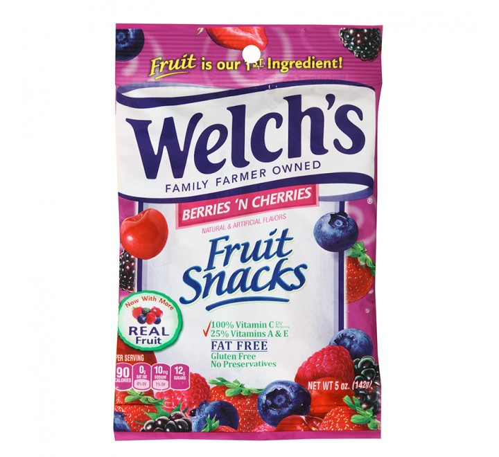 Welch's Fruit Snacks Berries 'n Cherries (142g)