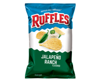 Ruffles Jalapeño Ranch, Potato Chips (184g)