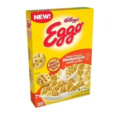 Kellogg's Eggo Maple Flavored Homestyle, Waffle Cereal (249g)