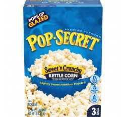 Pop-Secret, Sweet 'n Crunchy Kettle Corn Popcorn (3 Bags) (224g)