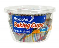 Reynolds Party Baking Cups, White with Circles (63mm, 36-Pack)