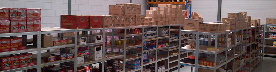 An impression from our warehouse in Barendrecht (Netherlands).